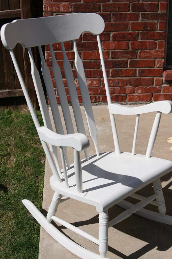 Rocking Chair Revamp: A Boy Mom's Present for a Girl Mom