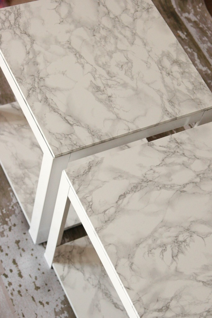 Faux Marble Tables