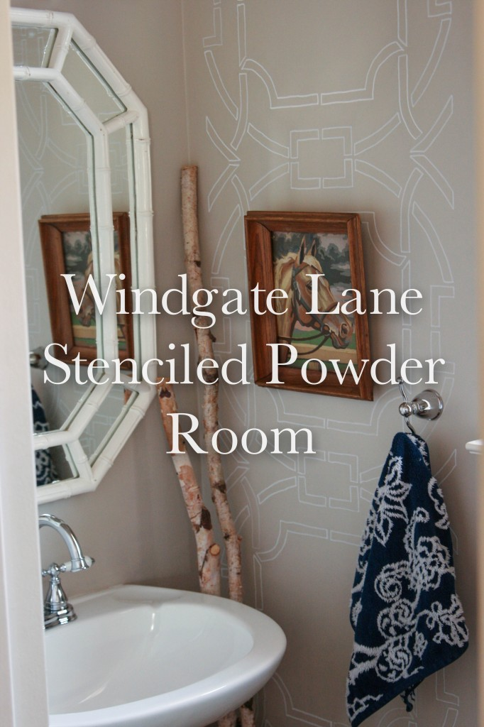 Drawing on the Wall |Powder Room Redo|