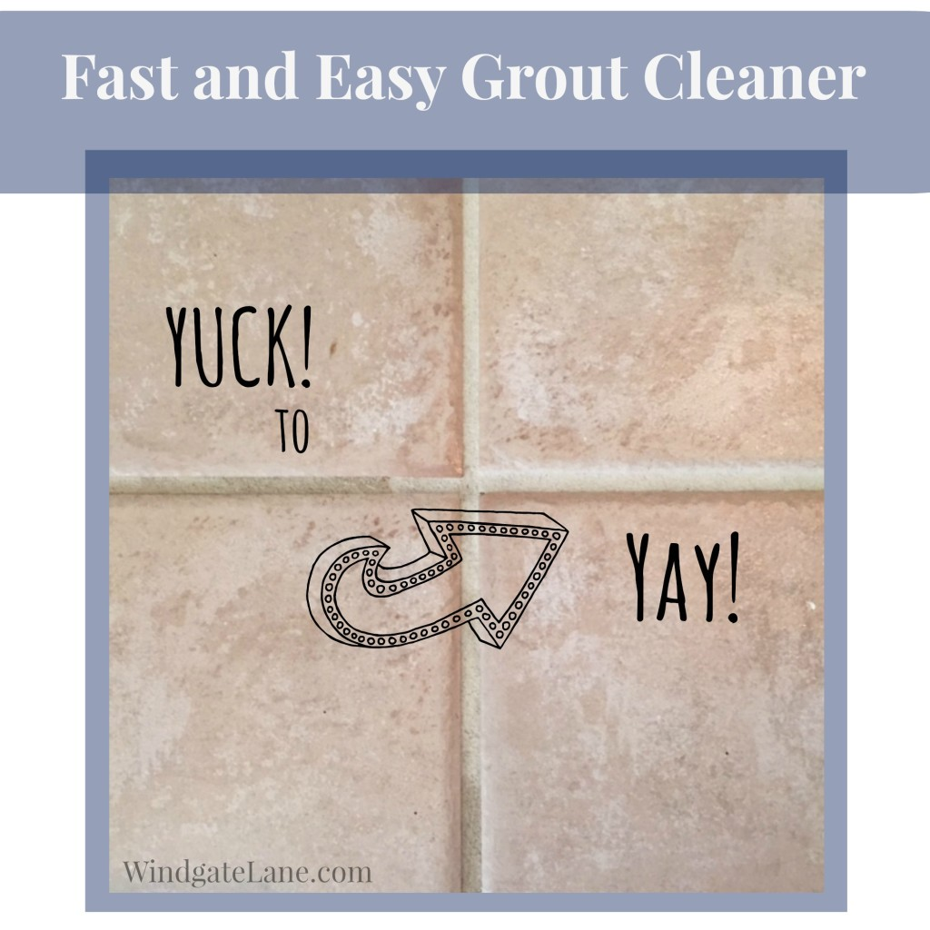 Cleaning Grout Fast!