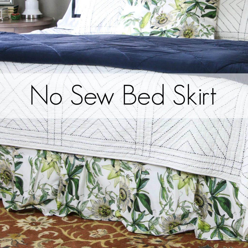 Bed skirt: No Sew Sewing