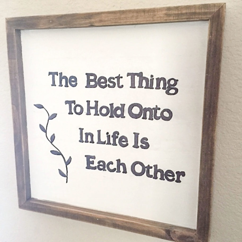 Framed Quotes: Habitat for Humanity Projects